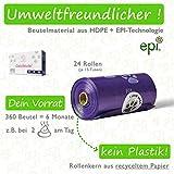 GIZZY Hundekotbeutel Biodegradable - Kotbeutel für Hunde Biologisch Abbaubar Hundekot Beutel Dog...
