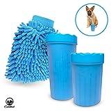 Goldthal® Das ORIGINAL Hunde Pfotenreiniger für große und normale Pfoten mit Microfaser...