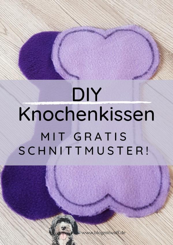 DIY Knochenkissen mit Schnittvorlage