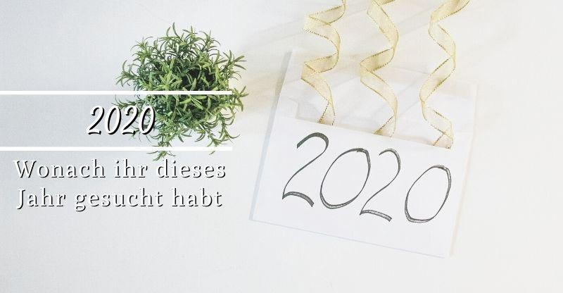 Wonach ihr 2020 gesucht habt