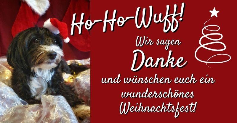Danke und Frohe Weihnachten vom Blog mit Wuff