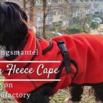 actionfactory Warmover Fleece Cape – Übergangsmantel für Hunde