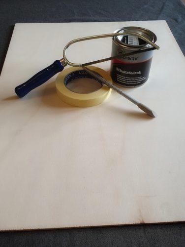 Material für DIY Kreidetafel