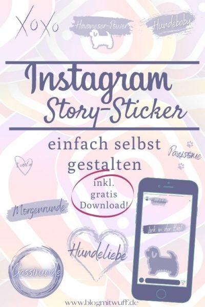 Pin Storysticker vom Blog mit Wuff 02