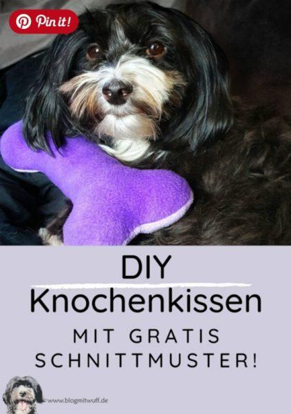 Pin it - DIY Knochenkissen mit gratis Schnittmuster